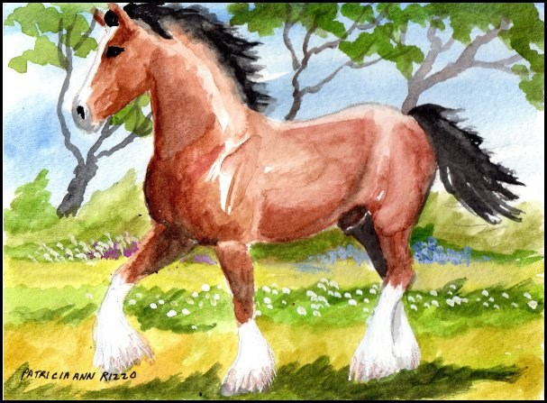 """Strutting His Stuff"" original fine art by Patricia Ann Rizzo"