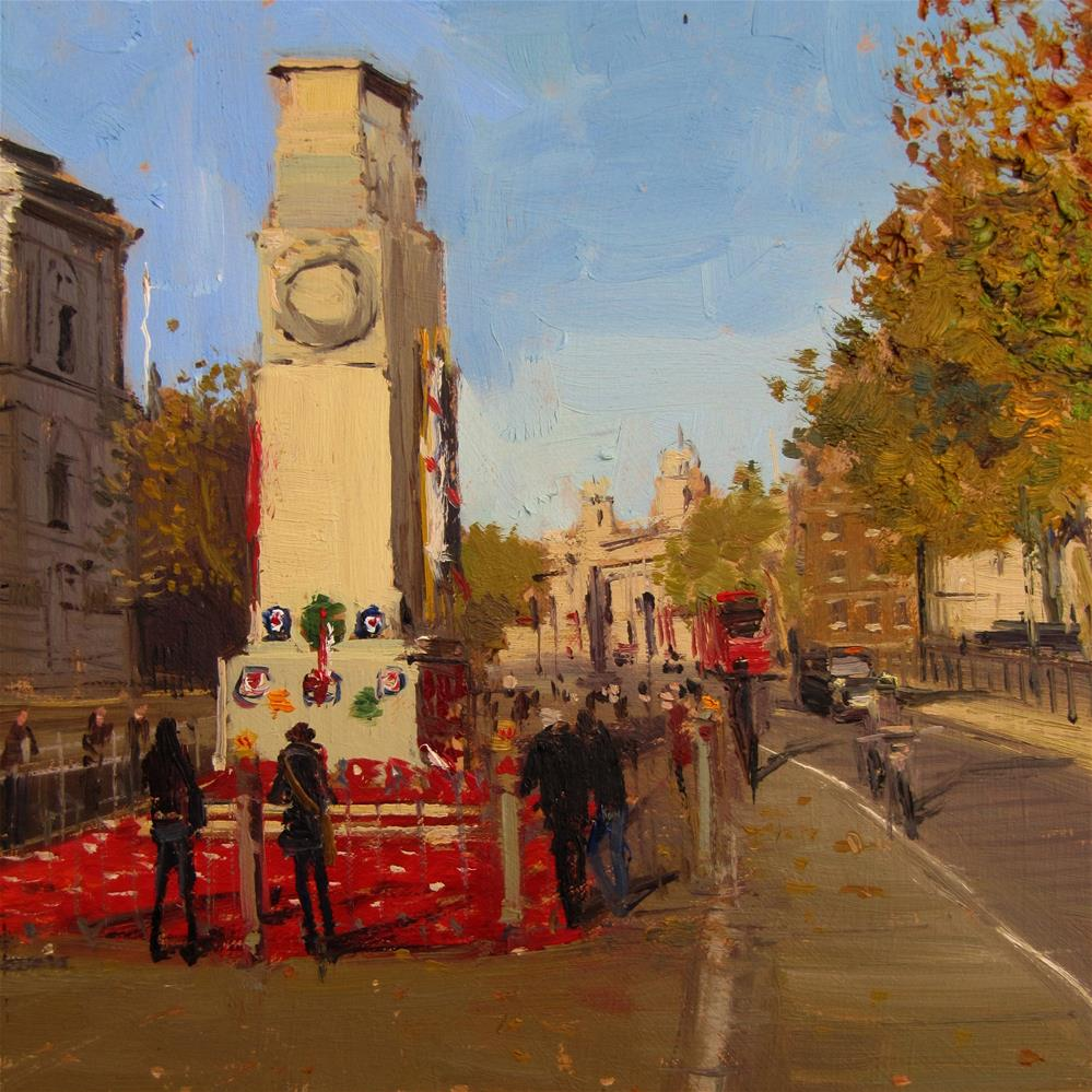 """The Cenotaph, in memory of our heroes"" original fine art by Adebanji Alade"