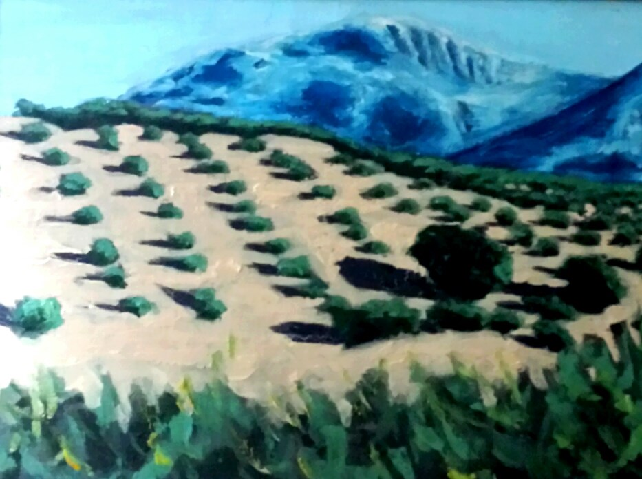 """ON THE ROAD TO SEVILLE"" original fine art by Tracy Wilkerson"