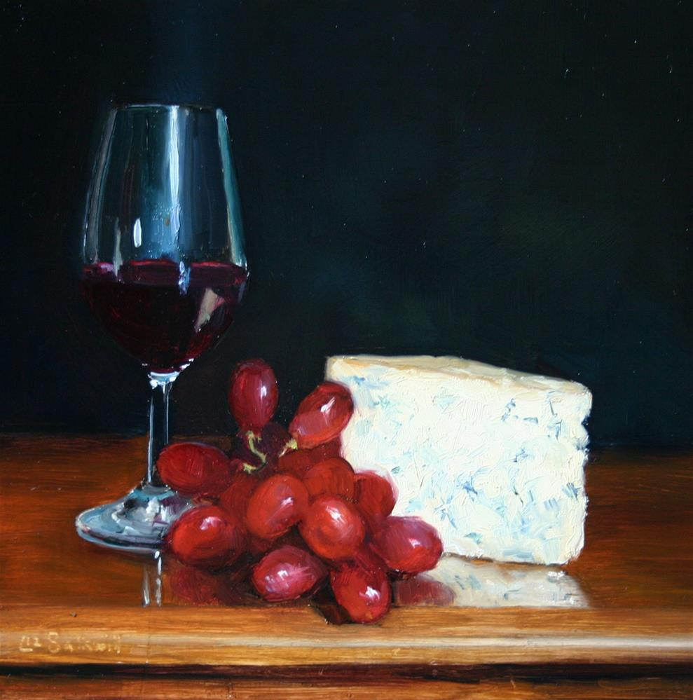 """Port and Stilton"" original fine art by Liz Balkwill"