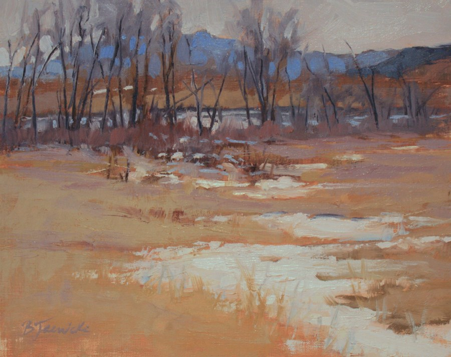 """Snow Remnants"" original fine art by Barbara Jaenicke"