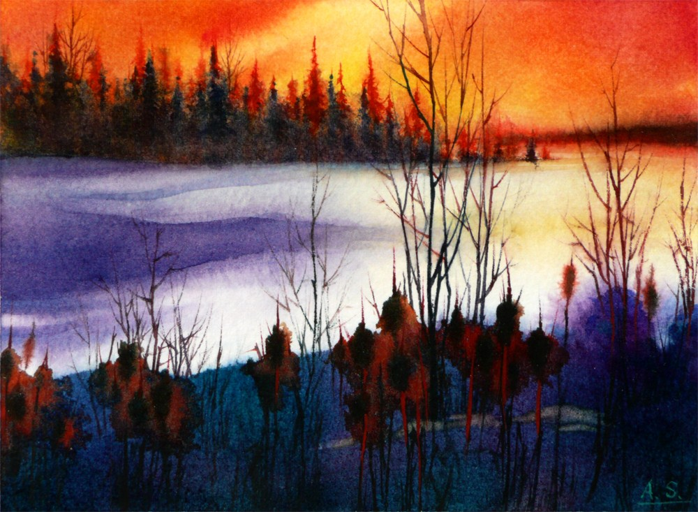 """Last Light"" original fine art by Arena Shawn"