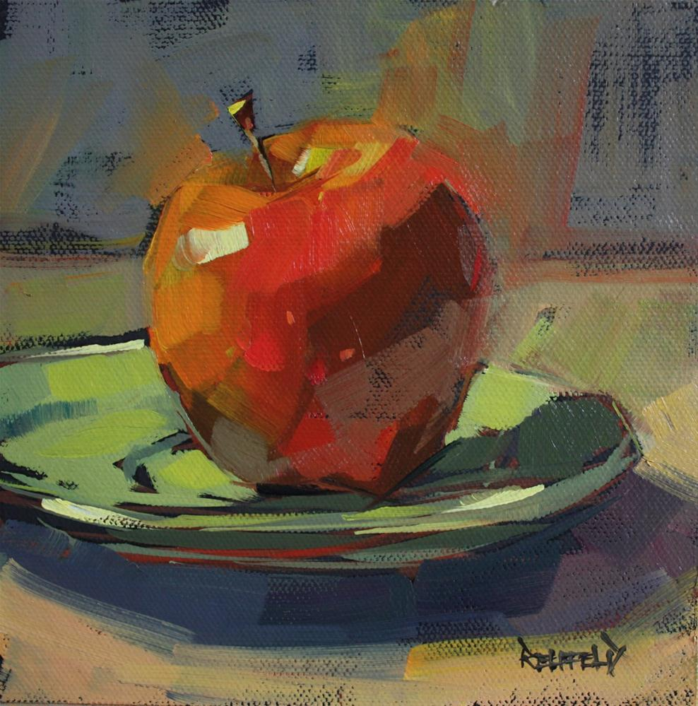 """Luscious Apple"" original fine art by Cathleen Rehfeld"
