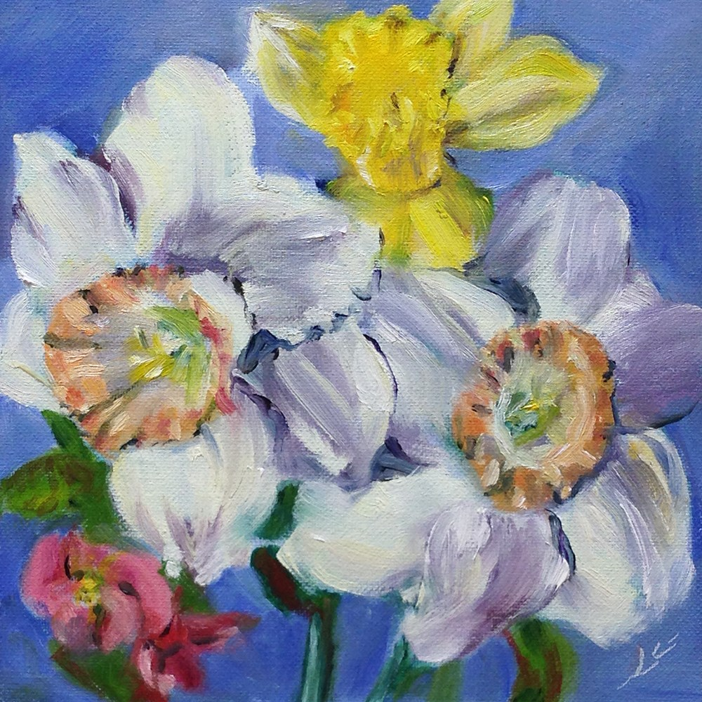 """Spring in Two Hours"" original fine art by Linda Lowery"