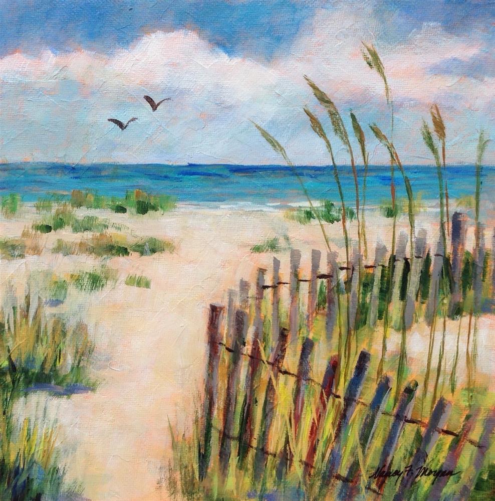 """""""Wind Break"""" original fine art by Nancy F. Morgan"""