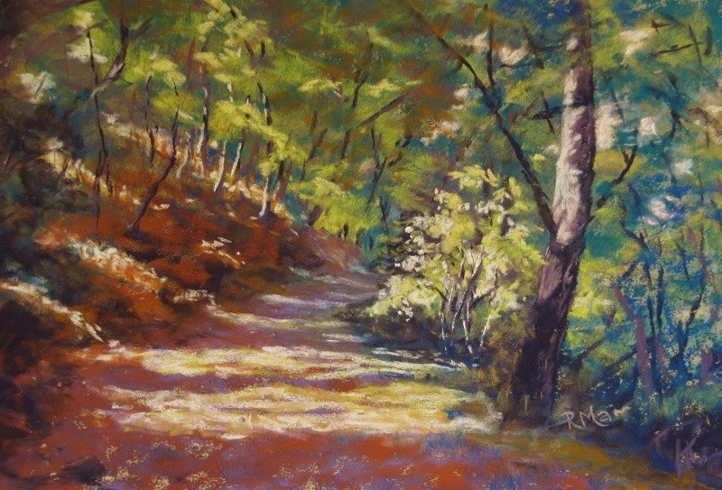 """Summer Shade"" original fine art by Ruth Mann"