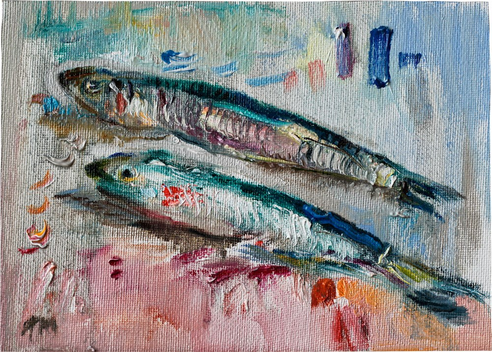 """Two Anchovies"" original fine art by Anna  Fine Art"