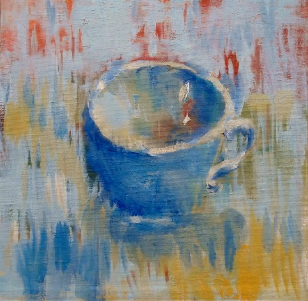 """A Cup for Tea"" original fine art by Connie Snipes"