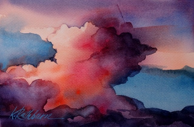 """Sky II"" original fine art by Kathy Los-Rathburn"