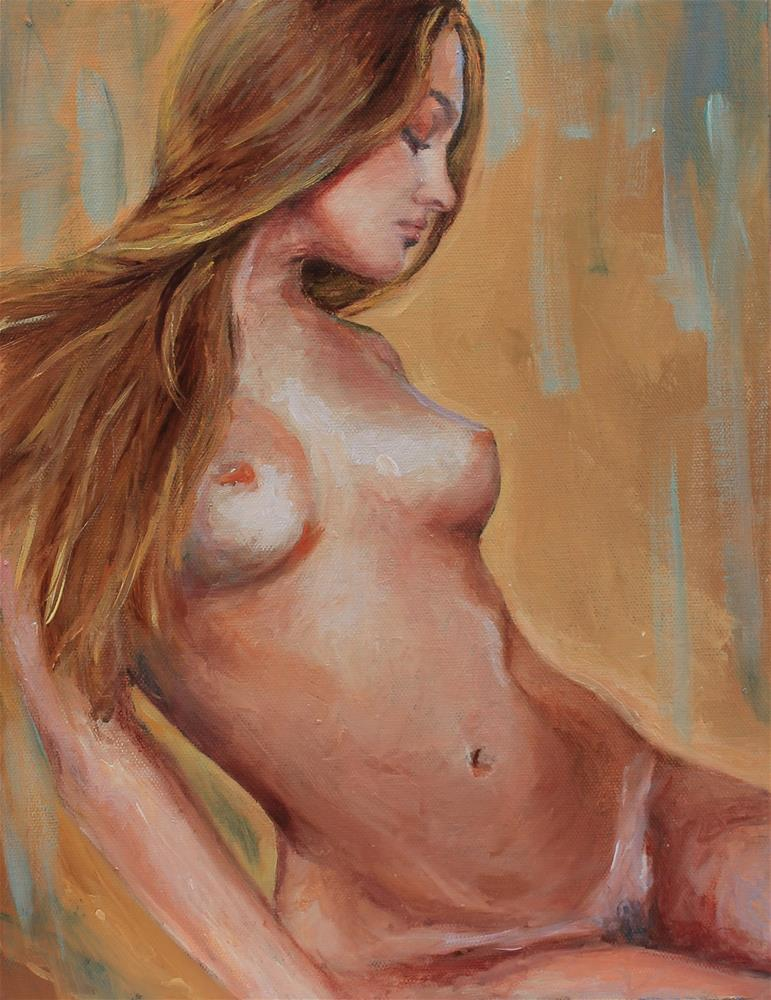 """nude in profile"" original fine art by Marco Vazquez"