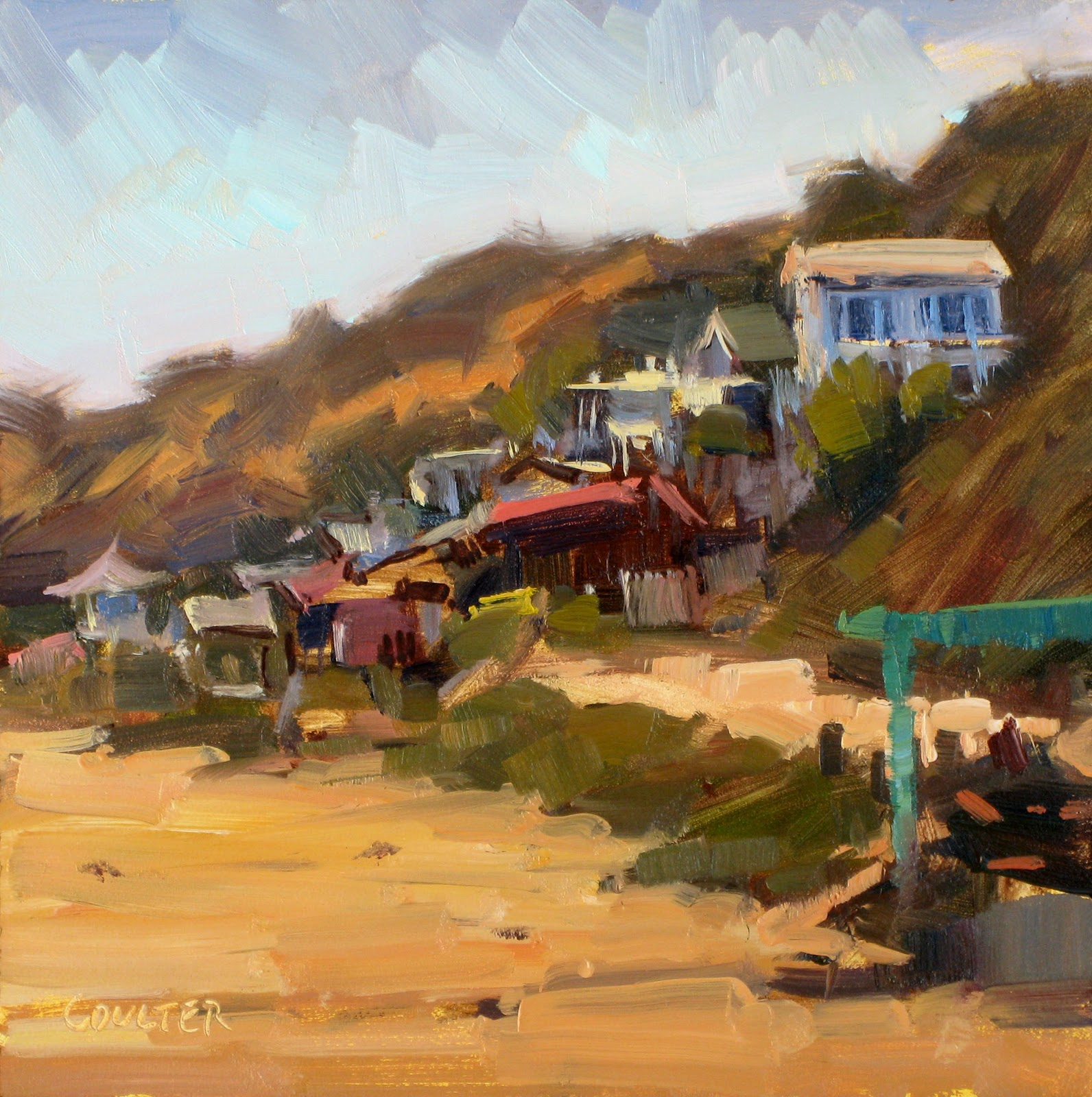 """CRYSTAL COVE"" original fine art by James Coulter"