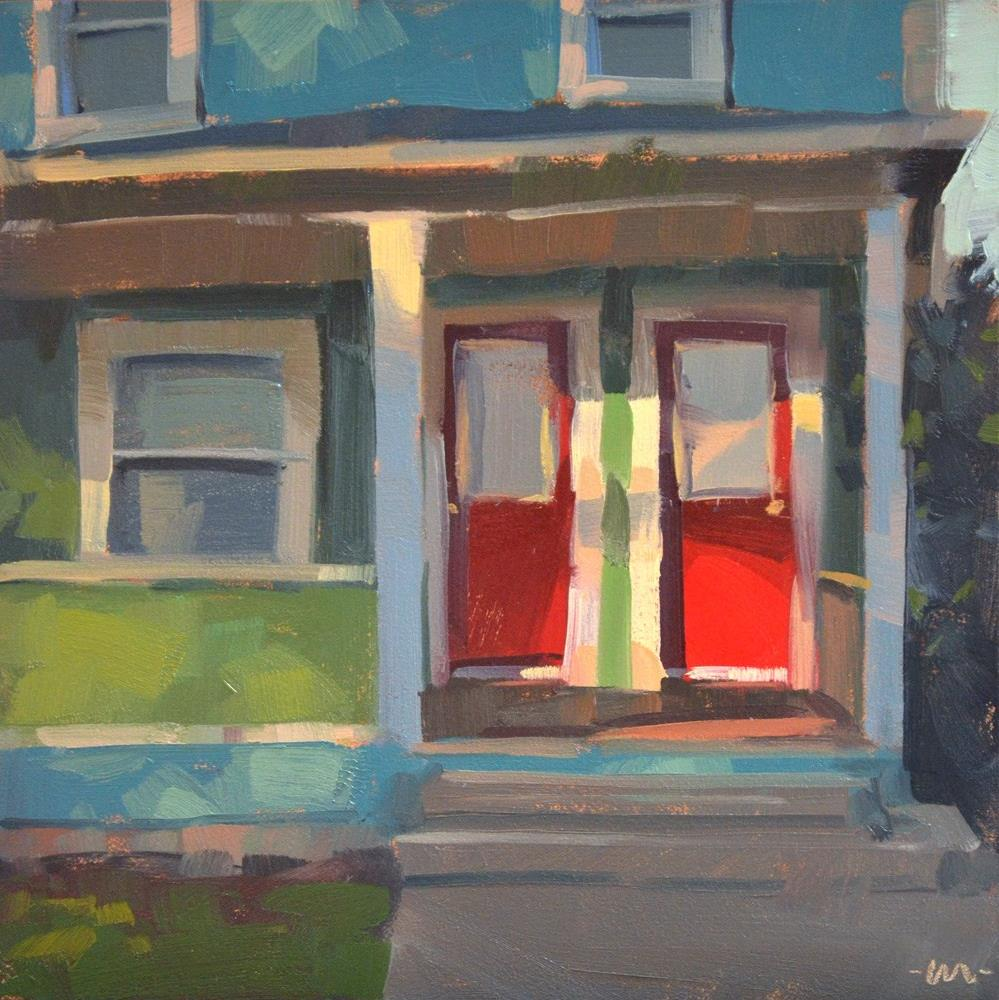 """Red Door, Duplex"" original fine art by Carol Marine"