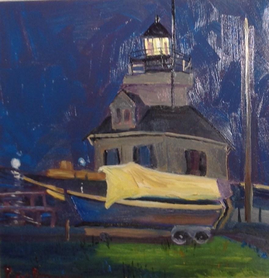 """The Boatyard"" original fine art by Rose Brenner"