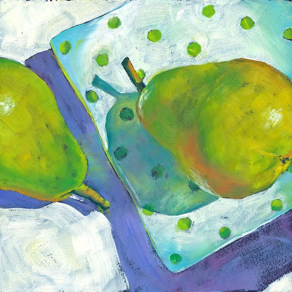 """Peasful Pair"" original fine art by Brenda Ferguson"