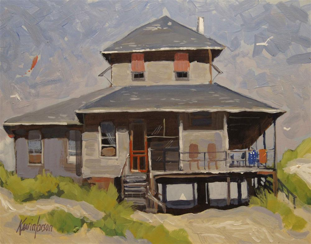 """Beach Cottage 4"" original fine art by Kevin Larson"