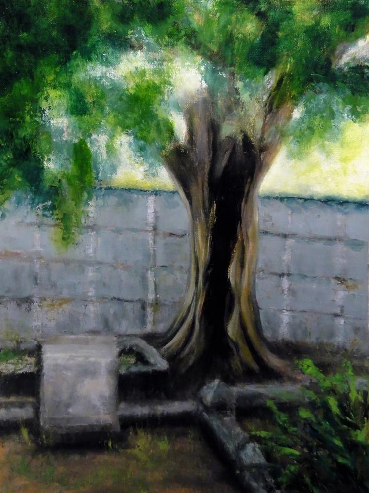 """Hollow Oak"" original fine art by Dalan Wells"