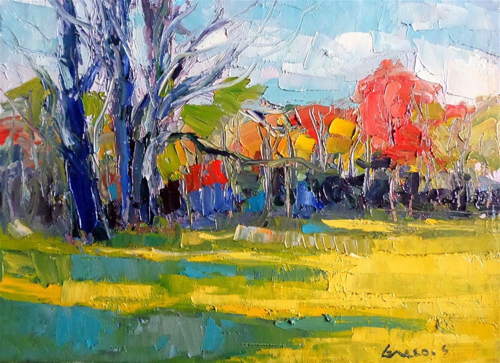 """Outdoors"" original fine art by salvatore greco"