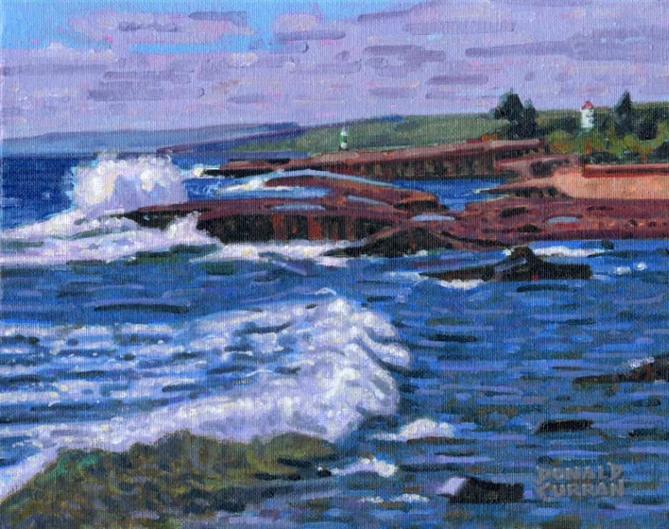 """Grand Marais Shoreline"" original fine art by Donald Curran"