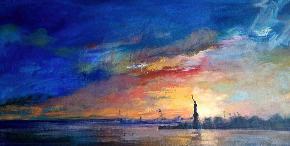 """Liberty from Redhook, New York"" original fine art by Ann Buenaventura"