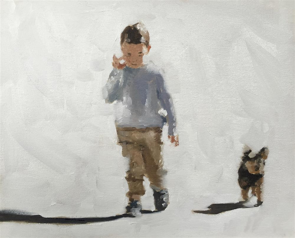 """His Best Friend"" original fine art by James Coates"