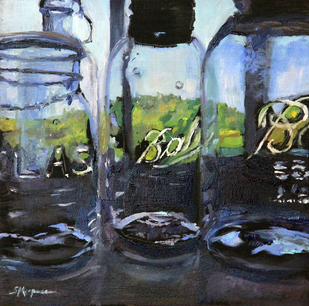 """Landscape Through the Glass"" original fine art by Shelley Koopmann"