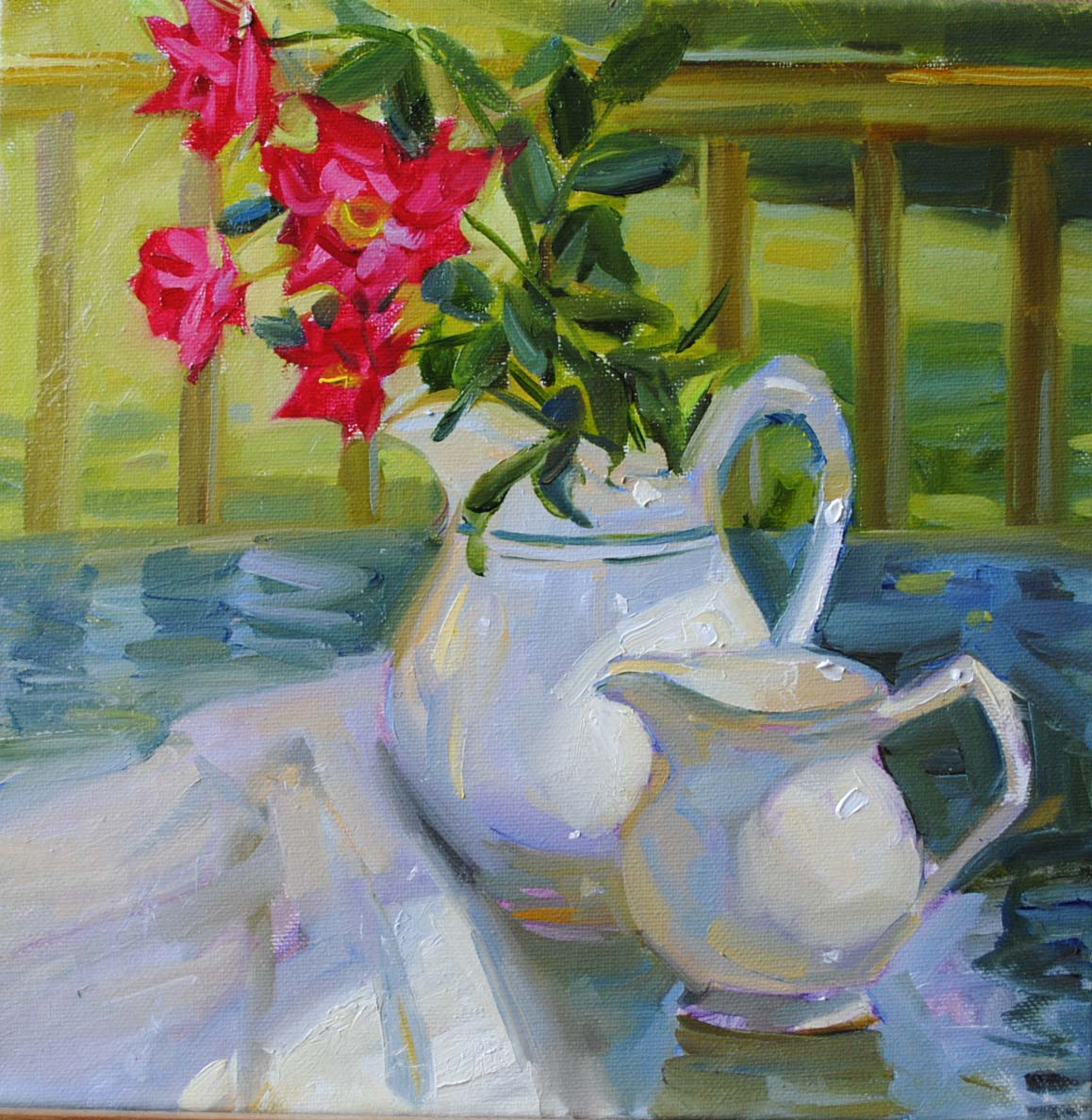 """Sunday Morning"" original fine art by Elena Katsyura"