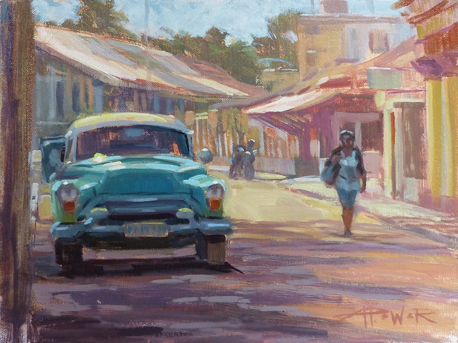 """Cuba - Passing Hemingway (A Day in Cojimar)"" original fine art by Anette Power"