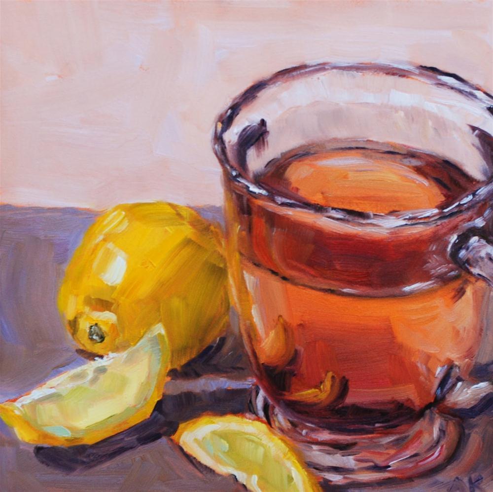 """English Breakfast with Lemon"" original fine art by Alison Kolkebeck"