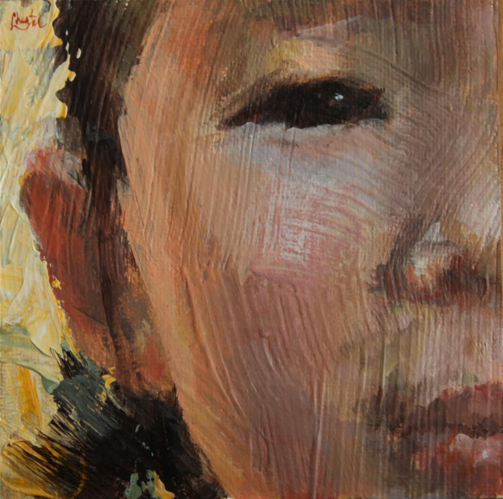 """American Girl"" original fine art by Chantel Barber"