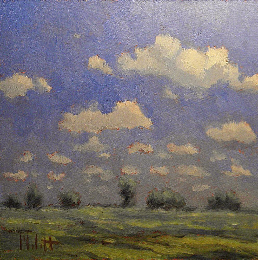 """Midwest Skies Clouds Landscape Daily Oil Painting"" original fine art by Heidi Malott"