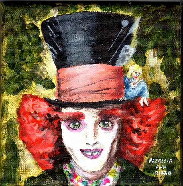 """Mad Hatter and Alice"" original fine art by Patricia Ann Rizzo"