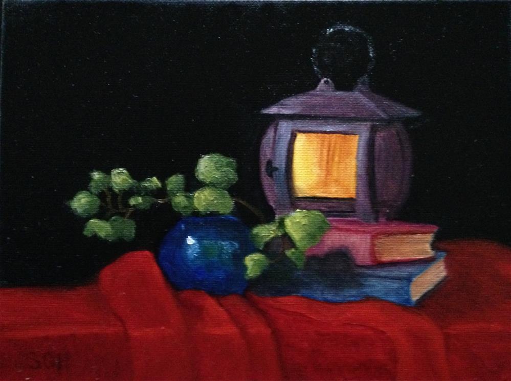 """""""Lantern Light"""" original fine art by Susan Hoffheimer"""