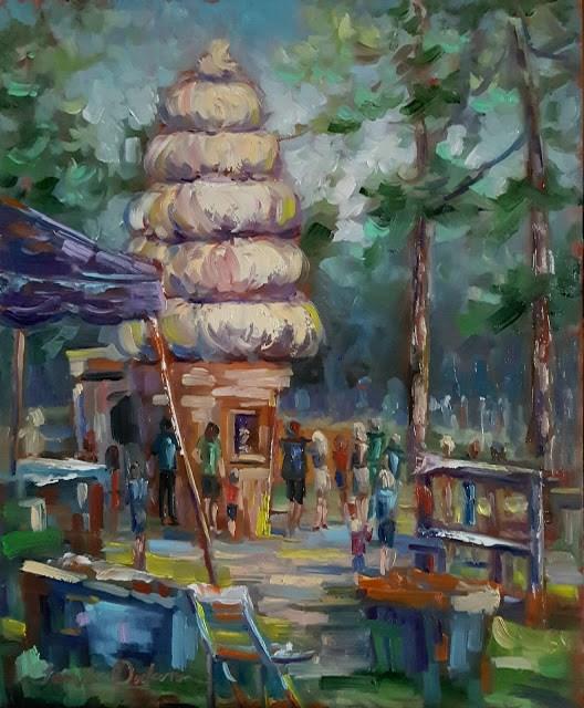 """Crazy for Ice Cream"" original fine art by Tammie Dickerson"