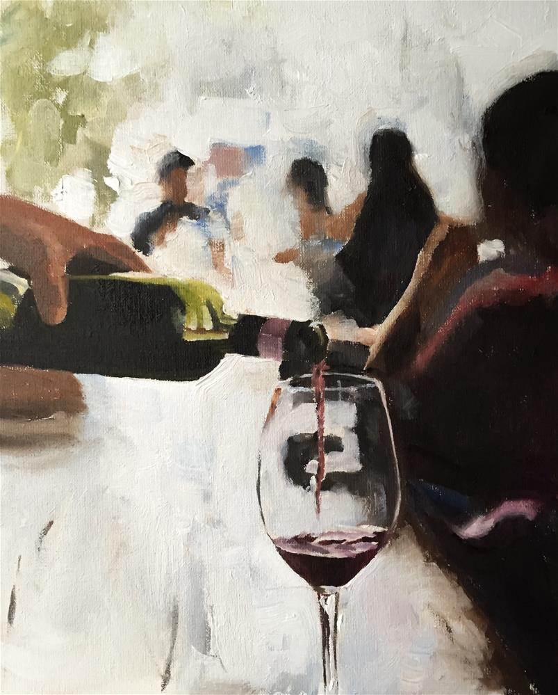 """Wine Bar"" original fine art by James Coates"