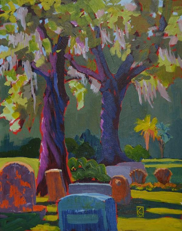 """Trinity Episcopal Cemetery, Edisto"" original fine art by Lucinda Howe"