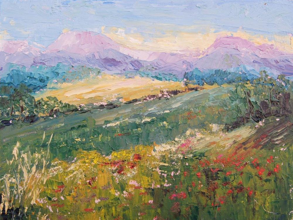 """Provence Landscape #3 by Marion Hedger"" original fine art by Marion Hedger"