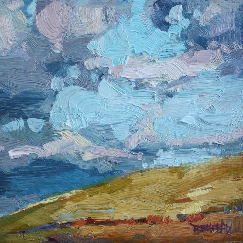 """Hills of Eastern Oregon"" original fine art by Cathleen Rehfeld"