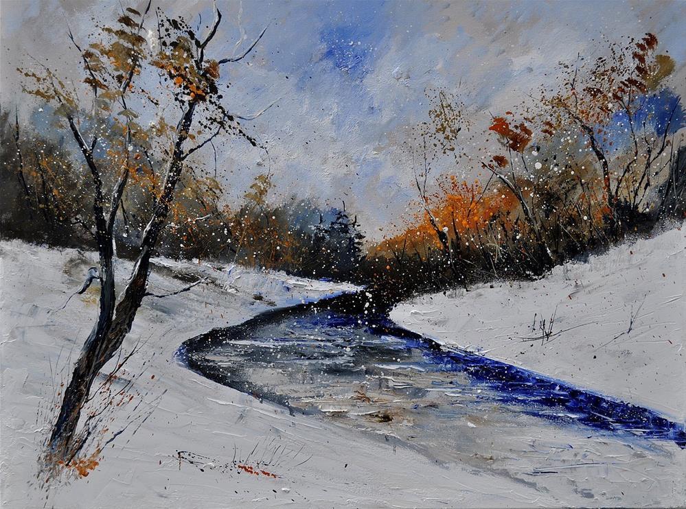 """Winter landscape 6841"" original fine art by Pol Ledent"