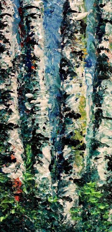 """""""Birch Trees"""" original fine art by Joanne Abbott"""