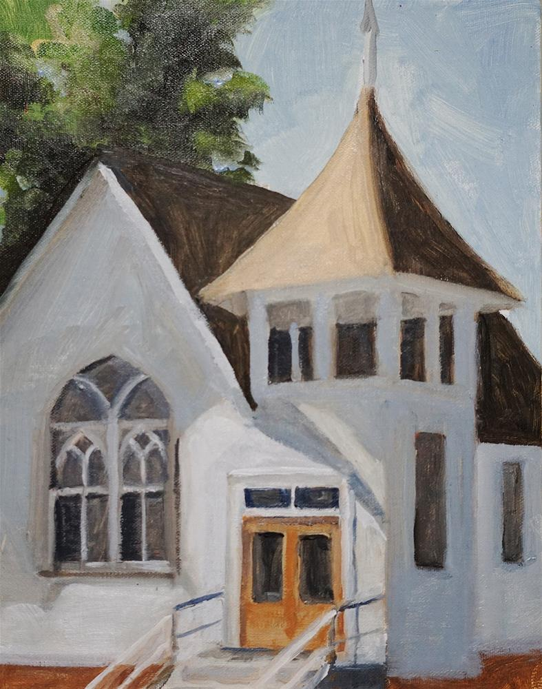"""Parker Church"" original fine art by Catherine Van Berg"