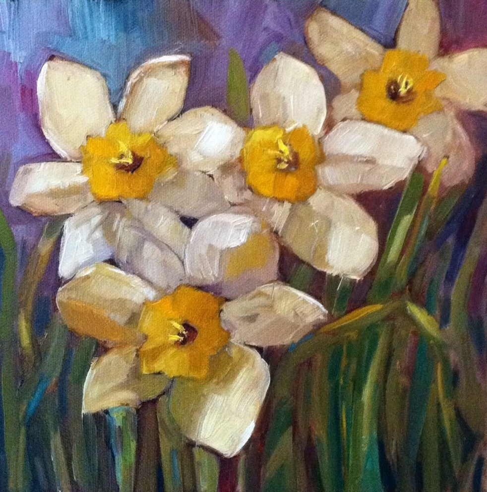 """Daffodils"" original fine art by Libby Anderson"