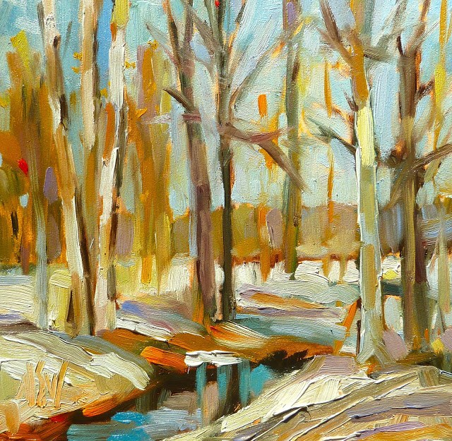 """Winter Woods"" original fine art by Mary Sheehan Winn"