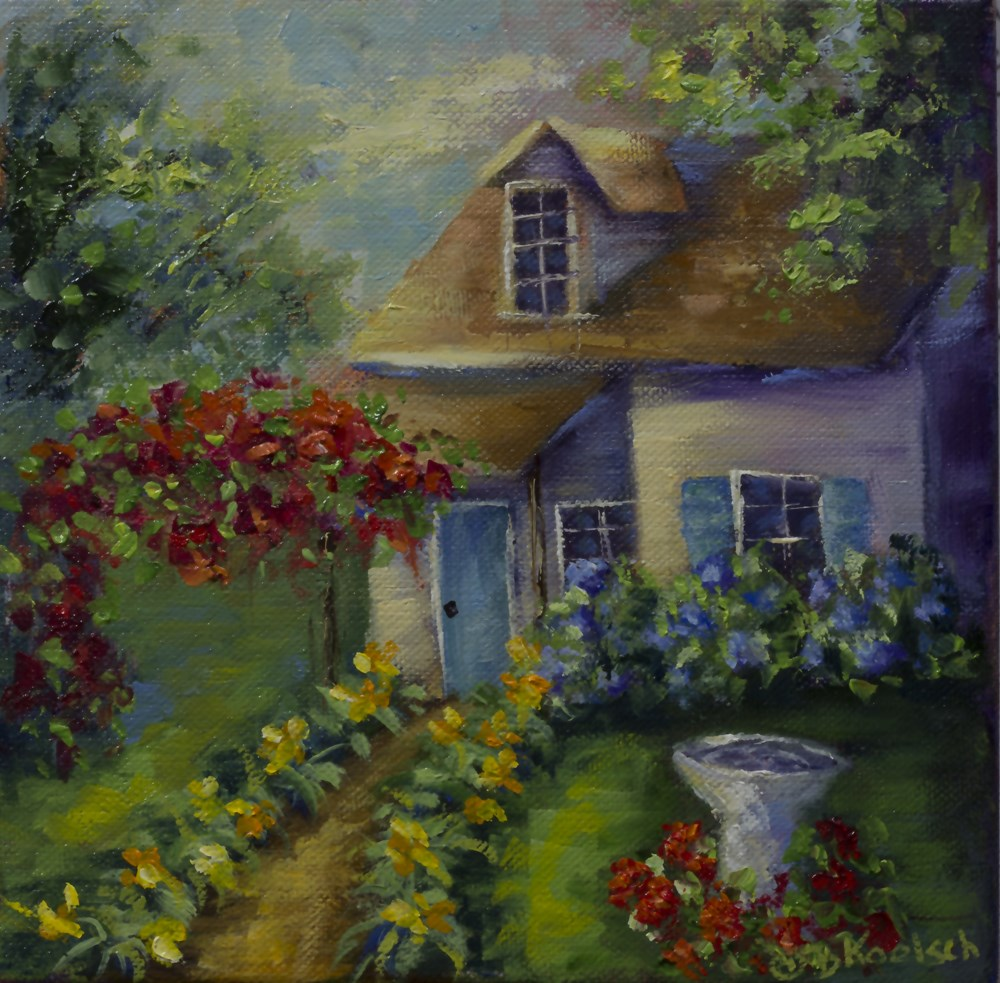"""Cottage Abode"" original fine art by Bobbie Koelsch"