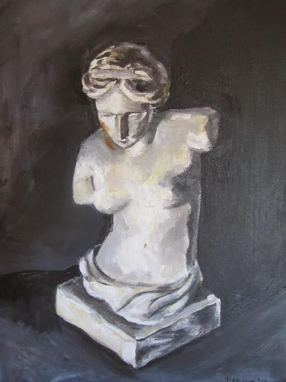 """Statue of Nude Woman"" original fine art by Juli Schuster"