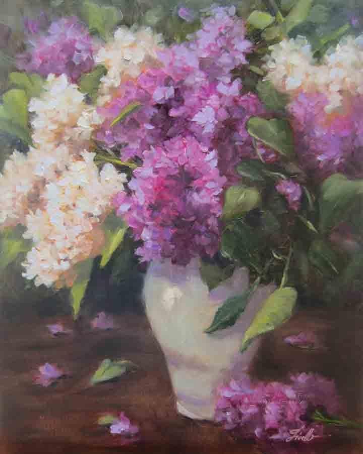 """The Sweet Scent of Lilacs"" original fine art by Pat Fiorello"