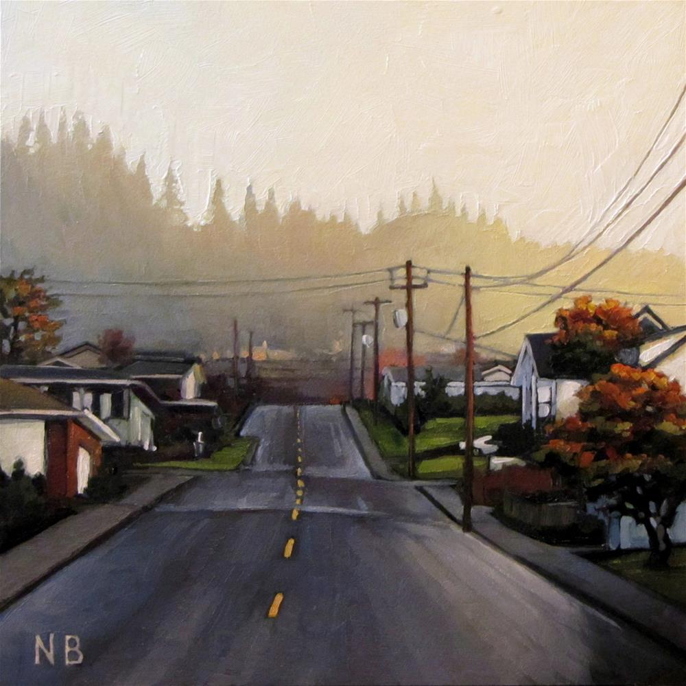 """Morning on Poplar Street"" original fine art by Nora Bergman"