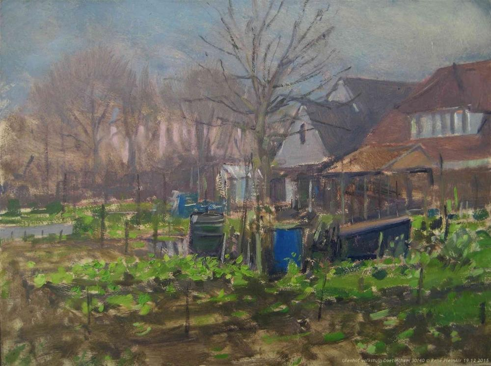 """Allotments, .... again."" original fine art by René PleinAir"