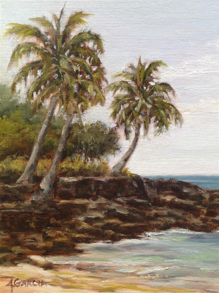 """Honl's Beach South"" original fine art by Jeannie Garcia"