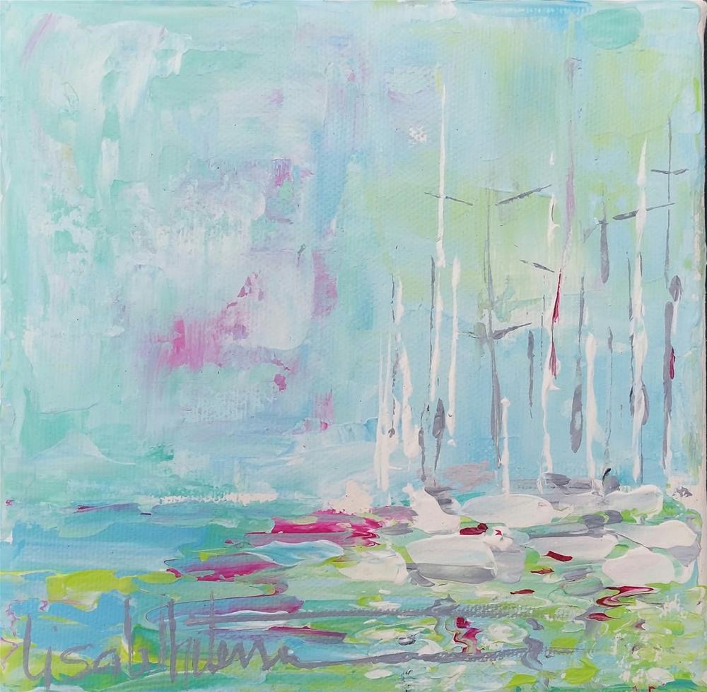 """6 -Heart of Glass"" original fine art by Lisa Rogers"