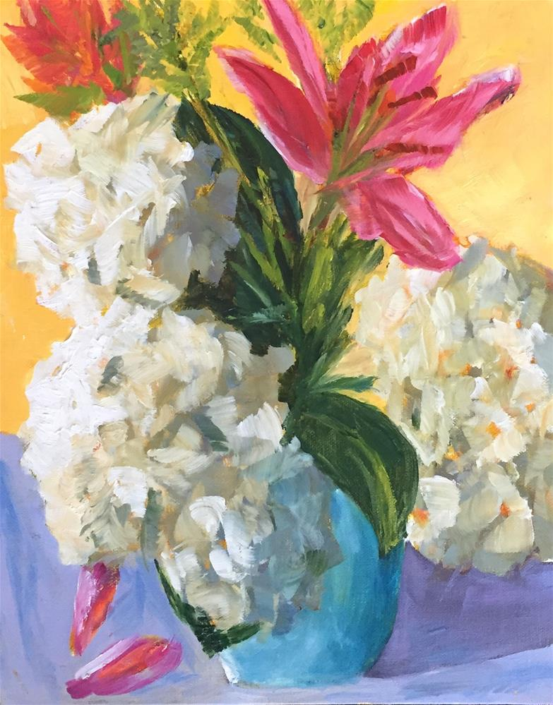 """Lily's Hydrangeas"" original fine art by Renee Robison"